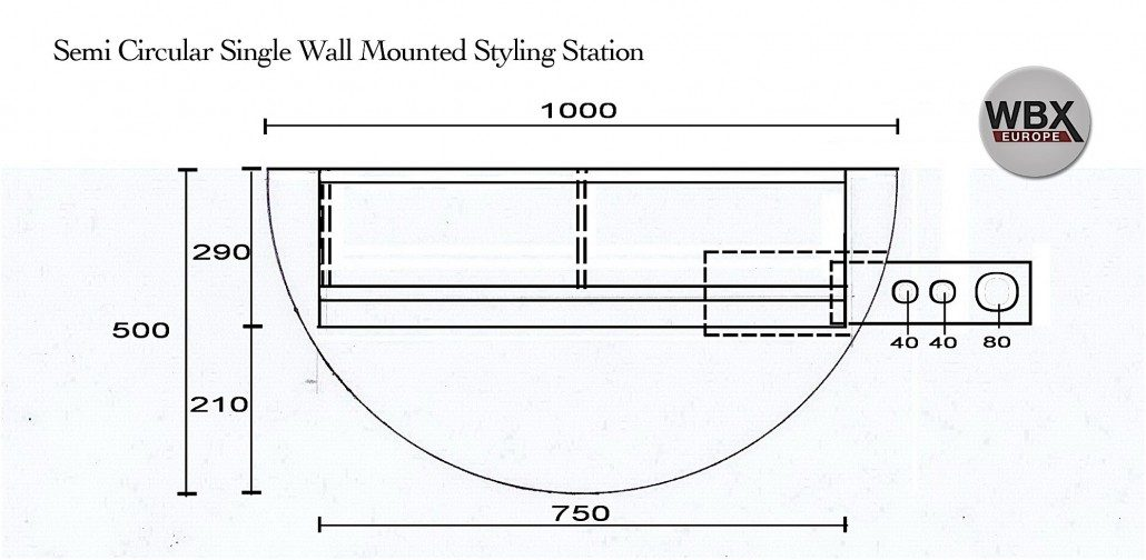 Semi circular wall unit